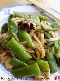cuisiner des haricots plats recettes d une chinoise nouilles cuites à l étouffé aux haricots