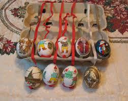 egg ornaments etsy