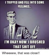 Fell Into Some Feelings Meme - 25 best memes about fell into some feelings fell into some