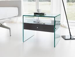 modern glass desk with drawers nella vetrina tonelli secret modern italian designer bedside table