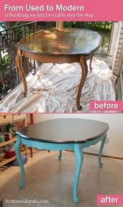 Modern Dining Room Table And Chairs by Antique Dining Table Updated With Chalk Paint Chalk Paint
