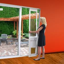 security screen doors for sliding glass doors high tech pet power pet electronic patio pet door for sliding