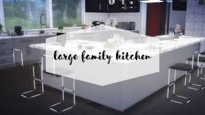sims 4 large family kitchen design youtube