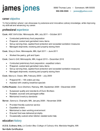 culinary resume samples profesional resume free resume example and writing download sponsor