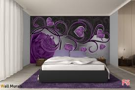 mural abstract roses with purple heart photo mural abstract roses with purple heart