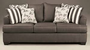 Sofa Bed Ashley Furniture by Ashley 7340339 Levon Charcoal Queen Sofa Youtube