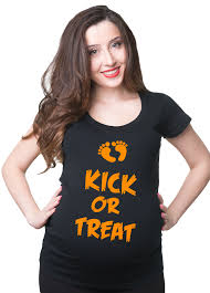 Halloween Pregnant Shirt Halloween Costume Kick Or Treat Funny Pregnancy Tee Shirt By
