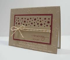 a christmas card created using the confetti stars punch and