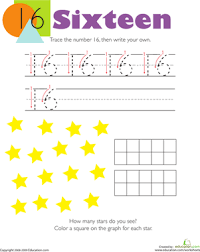 tracing numbers u0026 counting 16 math worksheets and kindergarten