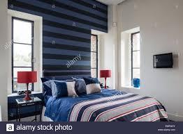 bedroom bed bedside tables stock photos u0026 bedroom bed bedside
