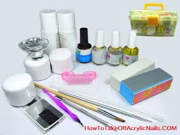 acrylic nail removal kit how to remove acrylic nails pinterest