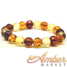 amber bead bracelet images Baroque beads faceted baltic amber bracelet JPG