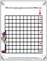 Counting By Tens Worksheets For Kindergarten Counting By Tens