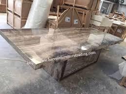 Stone Dining Room Table - harvest furniture italian marble stone dining table for dining