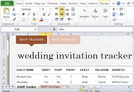 Wedding Invitation Excel Template How To Easily Create Wedding Invite List In Excel