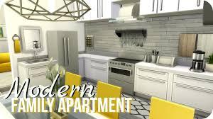 modern family kitchen sims 4 speed build modern family apartment youtube