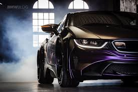 dark purple ferrari bmw evo i8