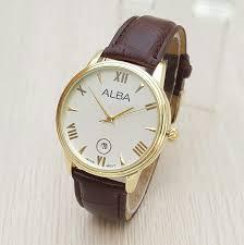 Jam Tangan Alba Emas jual jam tangan pria alba classic emas plat putih yororo
