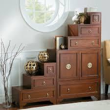 amazon com mandarin tansu cabinet in walnut 3 piece set 1 main