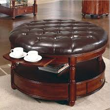 Leather Coffee Table Storage Collection In Leather Ottoman Coffee Table Coffee