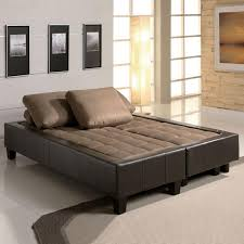 Sectional Sofa With Ottoman Fulton Tan Microfiber Convertible Sofa Bed Couch Sleeper 2 Ottoman