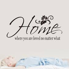 home wall sticker home where you are quote vinyl decal removable
