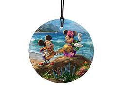 kinkade disney mickey minnie hawaii starfire prints hanging