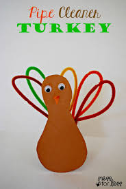 thanksgiving crafts for pipe cleaner turkey turkey craft