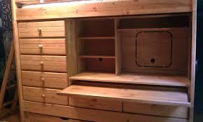 dresser with desk attached dresser desk combo polyflow
