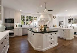 my dream kitchen with white wall paint color combine with white