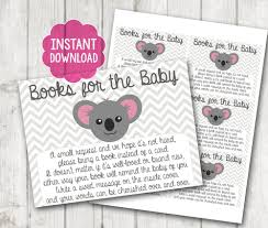 baby shower bring book instead of card printable bring a book instead of a card baby shower inserts