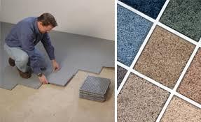 Carpet Tiles In Basement Basement Subfloor Tiles Floor Matting Installation In