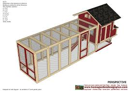 chicken house design pdf with chicken coop and run combination