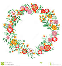 coral floral wreath clipart clipground