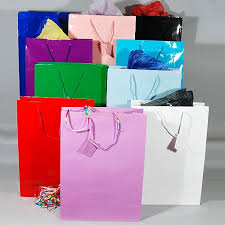 gift bags laminated solid colors sizes small medium large