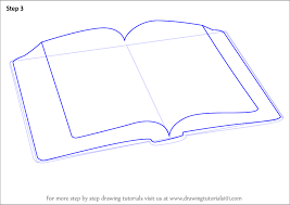 learn how to draw an open book everyday objects step by step