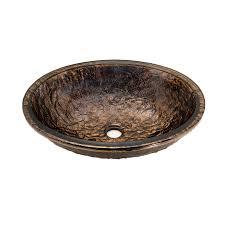 shop jsg oceana cobalt copper glass undermount oval bathroom sink