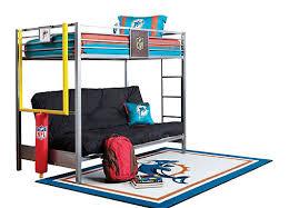 rooms to go nfl redzone 4 pc twin futon loft bed online interior