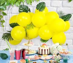 hawaiian summer decorations green yea and yellow