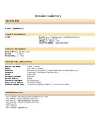examples of resume summary statement resume emt basic resume how
