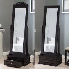 Jewelry Full Length Mirror Armoire Belham Living Removable Decorative Top Cheval Mirror Espresso