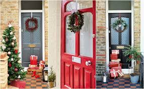 christmas door wrapping paper 3 ways to decorate your front door this christmas