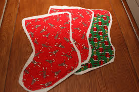 Homemade Christmas Stockings by Homemade Quilted Christmas Stockings Love Laughter And A Touch