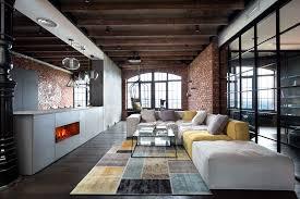 Modern Loft Furniture by Modern Industrial Loft Apartment In Ukraine Industrial Loft