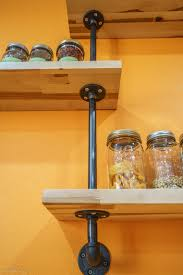 Pipe Shelves Kitchen by Floating Kitchen Shelves With Pipe Diy Project