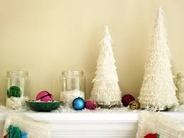 retro inspired purple and white christmas decorations diy craft