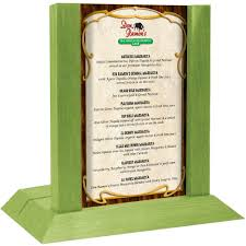 jose cuervo mango margarita menu solutions wdafr b lime wood menu holder tent with 5