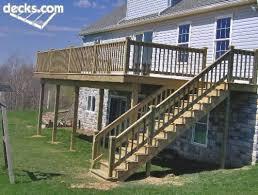 deck remodel ideas high elevation deck ideas 2 story deck