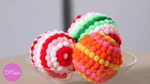 colorful pom pom ornaments diy style martha stewart