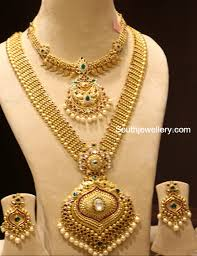 gold haram sets gold necklace and haram set by manepally jewellery designs gold